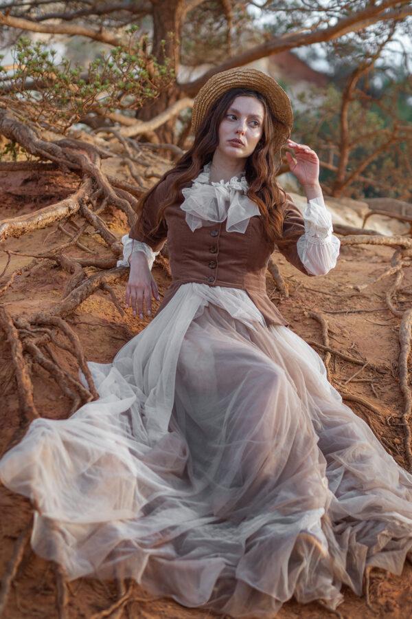 Model Nastya in Franse Canyon
