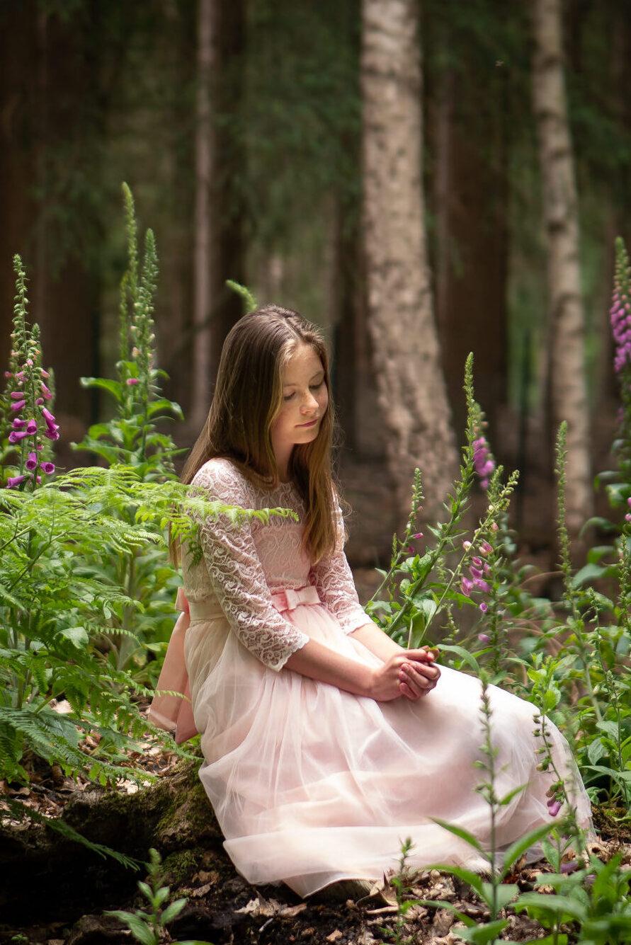 Kinder fotografie Jaylee in Nationaal Park de Hoge Veluwe