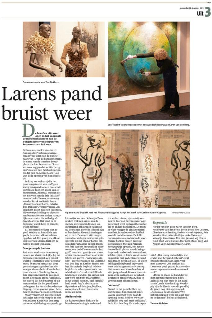 Artikel Gooi&Eemlander Door de bank genomen